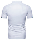 Pizoff Summer Men's short sleeved T-shirt Polo Shirt Printing Tees BA0044