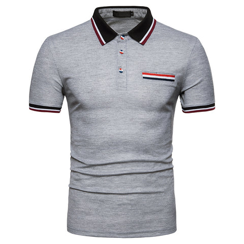 Pizoff Summer Men's short sleeved T-shirt Polo Shirt Printing Tees BA0045