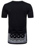 Pizoff Mens Hipster Hip Hop Crewneck Long T-Shirt BA0047
