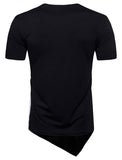 Pizoff Mens Hipster Hip Hop Crewneck Long T-Shirt BA0051