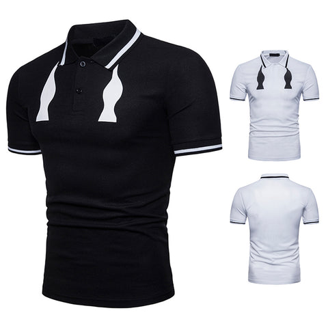Pizoff Summer Men's short sleeved T-shirt Collar Shirt Polo Shirt Clothes BA0055