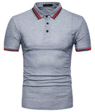 Pizoff Summer Men's short sleeved T-shirt Collar Shirt Polo Shirt Clothes BA0058