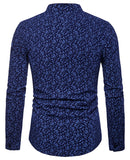 Pizoff Mens Hipster Hip Hop Luxury Print Long Sleeve Shirt BA0070