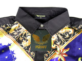 Pizoff Men's Short Sleeve Luxury Print Dress Shirt Y1782-14