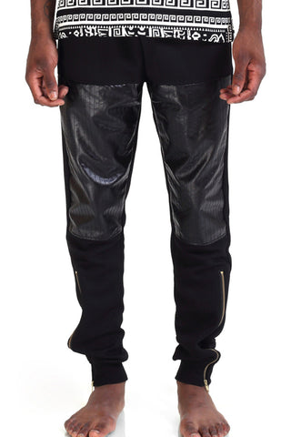 Men's Fashion Leather Zip Pants P3101