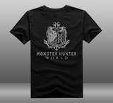 Pizoff MHW Monster Hunter World LOGO Cosplay T-shirt  Costume