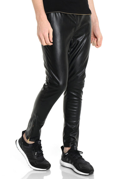 Men's Slim Leather Pants Y0506
