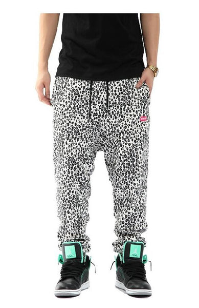 Pizoff Camouflage Faux Leather Harem Jogger Pants