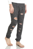 Hip Hop Long Dipped Pants Y1580-Black