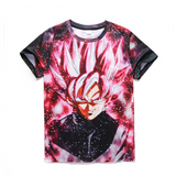 Pizoff Unisex 3D Dragon Ball Z Cartoon Print T-shirt Top Y1625-A8-