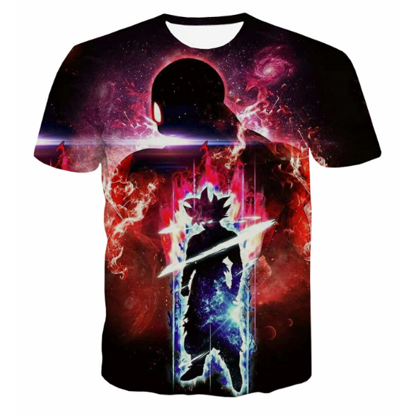 Pizoff Unisex 3D Dragon Ball Z Cartoon Print T-shirt Top Y1625-B3-