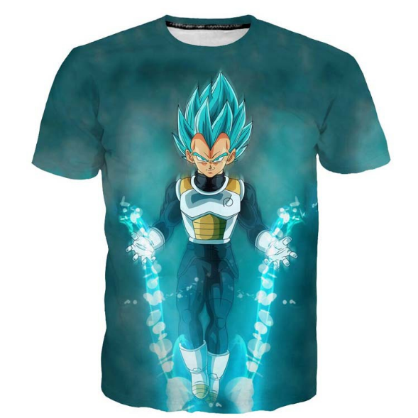 Pizoff Unisex 3D Dragon Ball Z Cartoon Print T-shirt Top Y1625-B4-