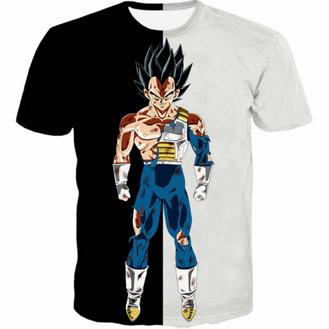 Pizoff Unisex 3D Dragon Ball Z Cartoon Print T-shirt Top Y1625-B6-