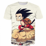 Pizoff Unisex 3D Dragon Ball Z Cartoon Print T-shirt Top Y1625-B7-