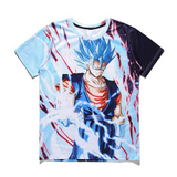 Pizoff Unisex 3D Dragon Ball Z Cartoon Print T-shirt Top Y1625-C4