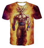 Pizoff Unisex 3D Dragon Ball Z Cartoon Print T-shirt Top Y1625-C5
