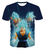 Pizoff Unisex 3D Dragon Ball Z Cartoon Print T-shirt Top Y1625-E4
