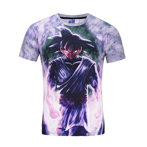 Pizoff Unisex 3D Dragon Ball Z Cartoon Print T-shirt Top Y1625-F5