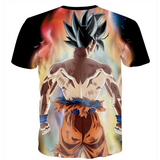 Pizoff Unisex 3D Dragon Ball Z Cartoon Print T-shirt Top Y1625-G1
