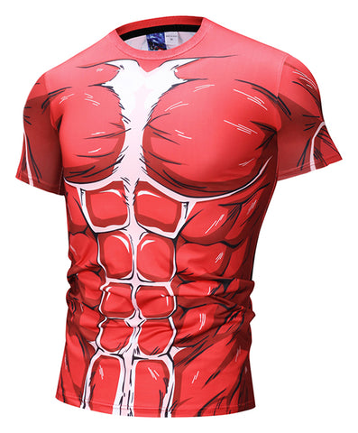 Pizoff Unisex Attack on Titan 3D Digital Printing T Shirts Y1625-N5