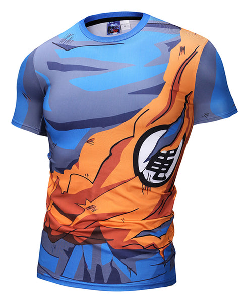 Pizoff Unisex Dragon Ball Kakarotto 3D Digital Printing T Shirts Y1625-P1