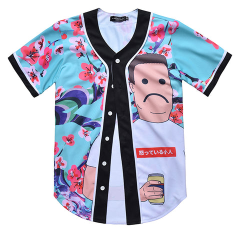 Pizoff Unisex Youth Arc Bottom 3D Print Baseball Team Jersey Shirt Y1724-92