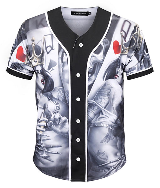Pizoff Unisex Youth Arc Bottom 3D Print Baseball Team Jersey Shirt Y1724-98