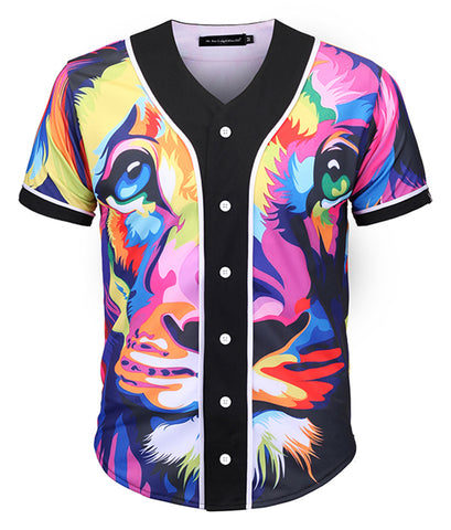 Pizoff Unisex Youth Arc Bottom 3D Print Baseball Team Jersey Shirt Y1724-A2