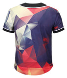 Pizoff Unisex Youth Arc Bottom 3D Print Baseball Team Jersey Shirt Y1724-A3