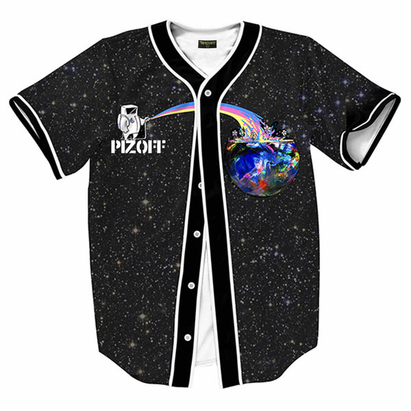 Pizoff Unisex Youth Arc Bottom 3D Print Baseball Team Jersey Shirt Y1724-A6