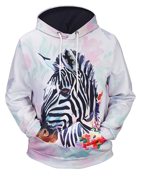 Pizoff Unisex 3D Digital Print Ugly Hoodie With Pockets Y1760-84