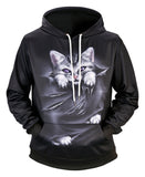 Pizoff Unisex 3D Digital Print Hoodie With Pockets Y1760-K8