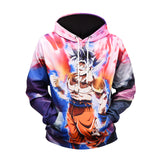 Pizoff Unisex Dragon Ball 3D Digital Print Hoodie With Pockets Y1760-N2