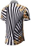 Pizoff Men's Short Sleeve Luxury Print Dress Shirt Y1782-06