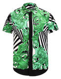 Pizoff Men's Short Sleeve Luxury Print Dress Shirt Y1782-25
