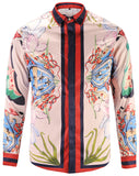 Pizoff Mens Long Sleeve Luxury Design Print Dress Shirt  Y1792-23