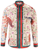 Pizoff Mens Long Sleeve Luxury Design Print Dress Shirt  Y1792-24