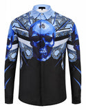 Pizoff Mens Long Sleeve Luxury Print Dress Shirt Y1792-78