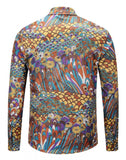 Pizoff Mens Long Sleeve Luxury Print Dress Shirt Y1792-79