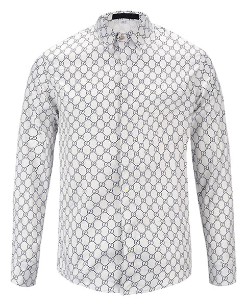 Pizoff Mens Long Sleeve Luxury Print Dress Shirt Y1792-91