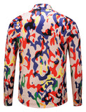 Pizoff Mens Long Sleeve Luxury Print Dress Shirt Y1792-A3