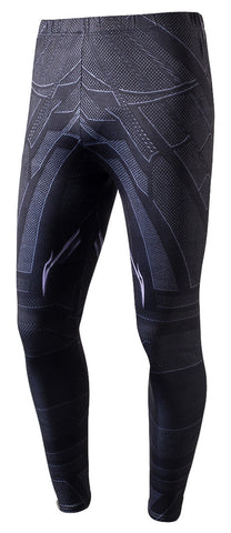 Pizoff Black Panther  Unisex Work Out Patterned Print Elatic Waist Skiny Gym Sweatpants Y1795-03