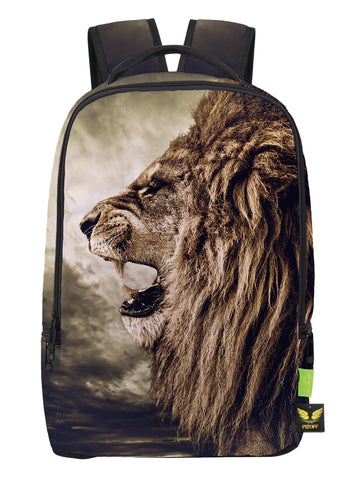 Pizoff Doulbe Mesh Padded Adjustable Shoulder Straps Cute Lion Print School Bookbags Rucksack Travel Laptop Backpacks Boys Girls Y1799-05