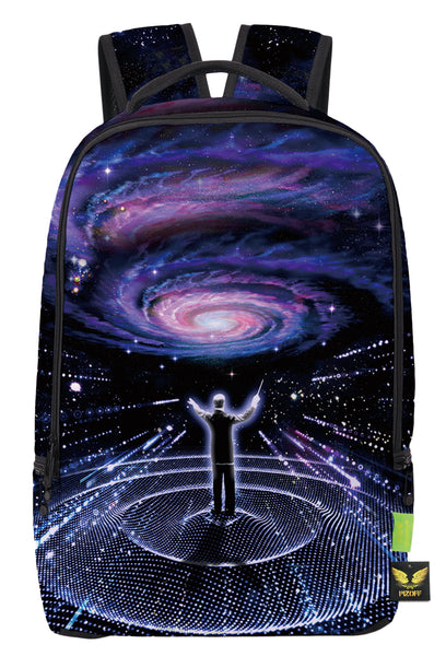 Pizoff Doulbe Mesh Padded Adjustable Shoulder Straps Cute Galaxy Print School Bookbags Rucksack Travel Laptop Backpacks Boys Girls Y1799-18