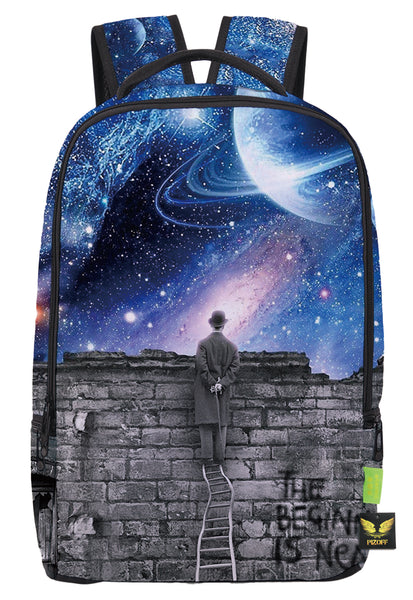 Pizoff Doulbe Mesh Padded Adjustable Shoulder Straps Cute Galaxy Print School Bookbags Rucksack Travel Laptop Backpacks Boys Girls Y1799-19