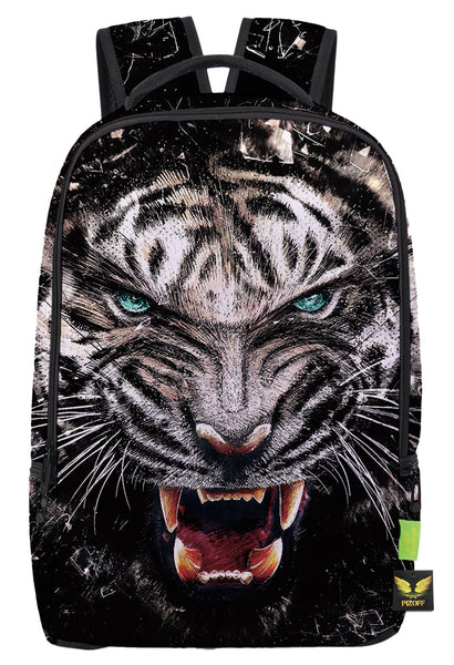 Pizoff Doulbe Mesh Padded Adjustable Shoulder Straps Cute Tiger Print School Bookbags Rucksack Travel Laptop Backpacks Boys Girls Y1799-27