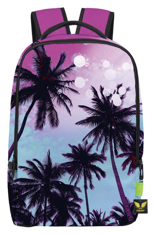 Pizoff Doulbe Mesh Padded Adjustable Shoulder Straps Cute Colorful Palm Tree Print School Bookbags Rucksack Travel Laptop Backpacks Boys Girls Y1799-28