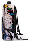 Pizoff Doulbe Mesh Padded Adjustable Shoulder Straps Cute Trible Colorful Feather Print Zipper School Bookbags Rucksack Travel Laptop Backpacks Boys Girls Y1799-36