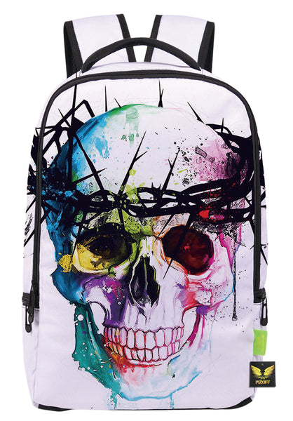 Pizoff Doulbe Mesh Padded Adjustable Shoulder Straps Cute Colorful Skull Print Zipper School Bookbags Rucksack Travel Laptop Backpacks Boys Girls Y1799-49