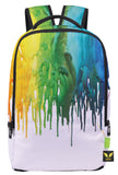 Pizoff Doulbe Mesh Padded Adjustable Shoulder Straps Cute Colorful Splatter Print Zipper School Bookbags Rucksack Travel Laptop Backpacks Boys Girls Y1799-55